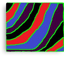 curves and stripes Canvas Print
