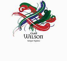 Clan Wilson - Prefer your gift on Black/White tell us at info@tangledtartan.com  Unisex T-Shirt