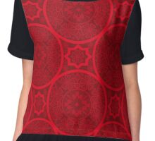 Red abstract seamless lace pattern background Chiffon Top