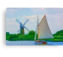Sailing the Norfolk Broads 2 Canvas Print