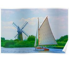 Sailing the Norfolk Broads 2 Poster