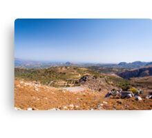 Serpentine road on island Crete, Greece, with olive trees Canvas Print