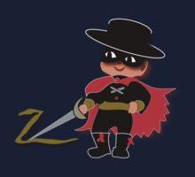 Retro Kid Billy features the legendary Zorro  Kids Tee