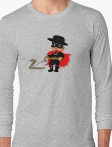 Retro Kid Billy features the legendary Zorro  Long Sleeve T-Shirt