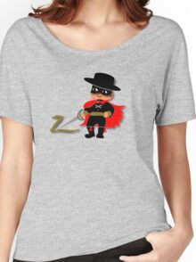 Retro Kid Billy features the legendary Zorro  Women's Relaxed Fit T-Shirt