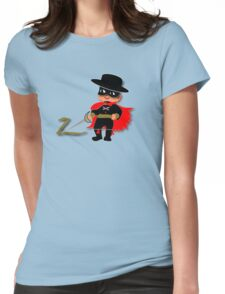 Retro Kid Billy features the legendary Zorro  Womens Fitted T-Shirt