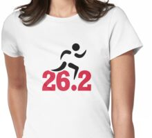 26.2 miles marathon runner Womens Fitted T-Shirt