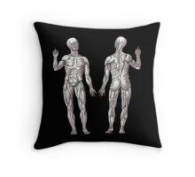 Muscle Men Fitness Addict Throw Pillow