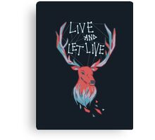 DEER TYPOGRAPHY Canvas Print