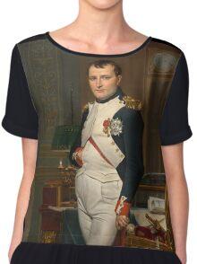 Jacques-Louis David - The Emperor Napoleon 1812 . Napoleon, Fashion Portrait Chiffon Top