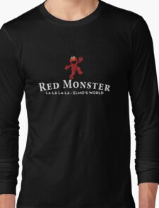 Red Monster Funny T-Shirt / Adult and Kid's Sizes - All Colors Long Sleeve T-Shirt