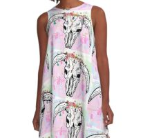 Midsumma pretty in pink skull A-Line Dress