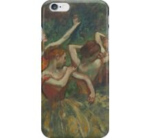 Edgar Degas - Four Dancers ( 1899) Impressionism  ballerina dancer iPhone Case/Skin