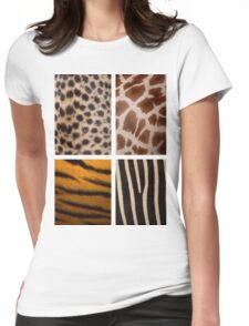 Textures of the Wild Womens Fitted T-Shirt