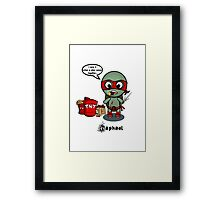 TMNT RAPH Framed Print