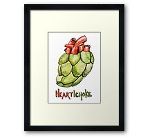 Heartichoke Pun Painting Framed Print