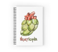 Heartichoke Pun Painting Spiral Notebook