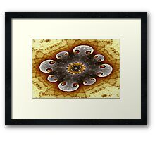 Ring of Bow Spirals Framed Print