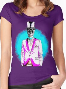 Linear skull Women's Fitted Scoop T-Shirt