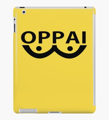 Oppai logo from Onepunch Man iPad Case/Skin