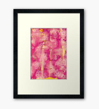 Zenart Pink Framed Print