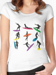 Cool Surf Surfer design Women's Fitted Scoop T-Shirt