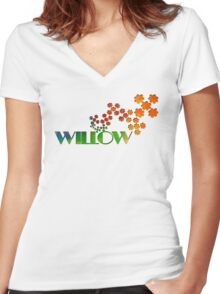 The Name Game - Willow Women's Fitted V-Neck T-Shirt
