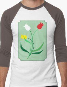 Tulips in 3 colors Men's Baseball ¾ T-Shirt