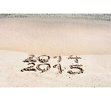 Happy New Year 2015 replace 2014 concept on the sea beach Photographic Print