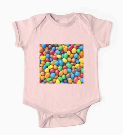 Colourful Chocolate Coated Sweets One Piece - Short Sleeve