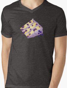 Lemon Blueberry Layer Cake Mens V-Neck T-Shirt
