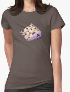 Lemon Blueberry Layer Cake Womens Fitted T-Shirt