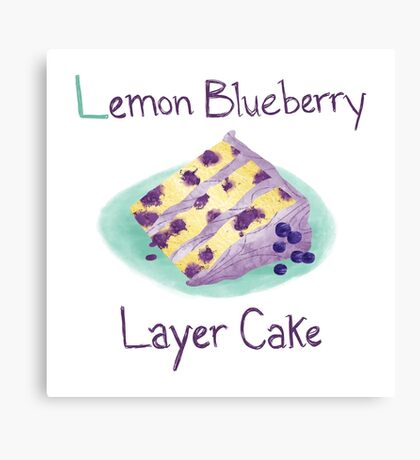Lemon Blueberry Layer Cake Canvas Print