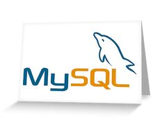 mysql database programming sticker Greeting Card