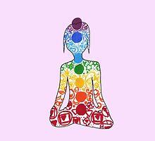 Hindu/Yoga Energy Chakras by ArtsyRosey
