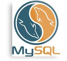 mysql database programming design Metal Print