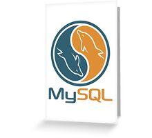 mysql database programming design Greeting Card
