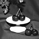 B&W Cherries by AnnDixon