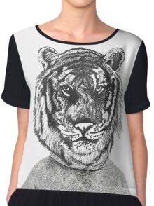 Hipster urban tiger Chiffon Top
