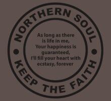 Northern Soul - Keep The Faith One Piece - Short Sleeve