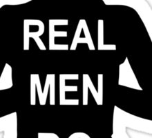 Real Men Do Yoga Sticker