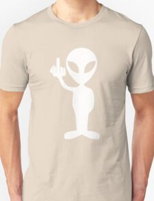 Alien showing the middle finger Unisex T-Shirt
