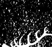 Oh Deer in B&W Sticker