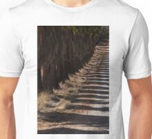 Avenue of palmtrees and their shadows Unisex T-Shirt