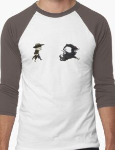 The man in black fled across the desert... Men's Baseball ¾ T-Shirt