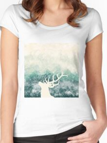 Oh Deer Green Women's Fitted Scoop T-Shirt