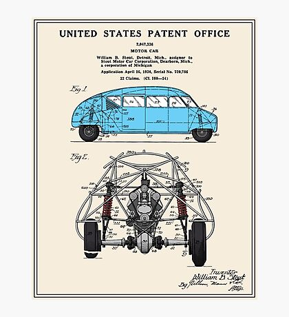 Motor Car Patent Photographic Print