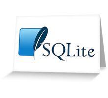 sqlite dabatase engine programming sql Greeting Card