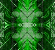 Green Symmetry Sticker