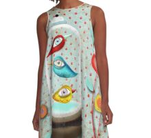 Free, but in my own way A-Line Dress